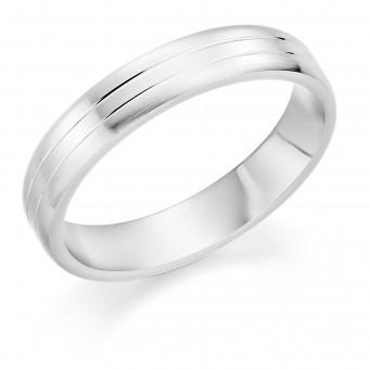 Platinum brushed finish Mara 4mm wedding ring