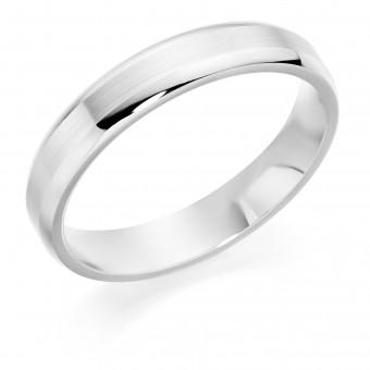 Platinum 4mm Nuovo Verdi wedding ring