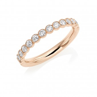 18ct rose gold Cianna round cut diamond true half eternity ring 0.46cts
