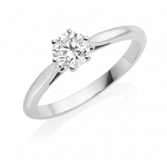 Platinum Serafina round cut diamond solitaire ring 0.71cts