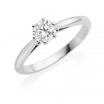 Platinum Serafina round cut diamond solitaire ring 0.31cts