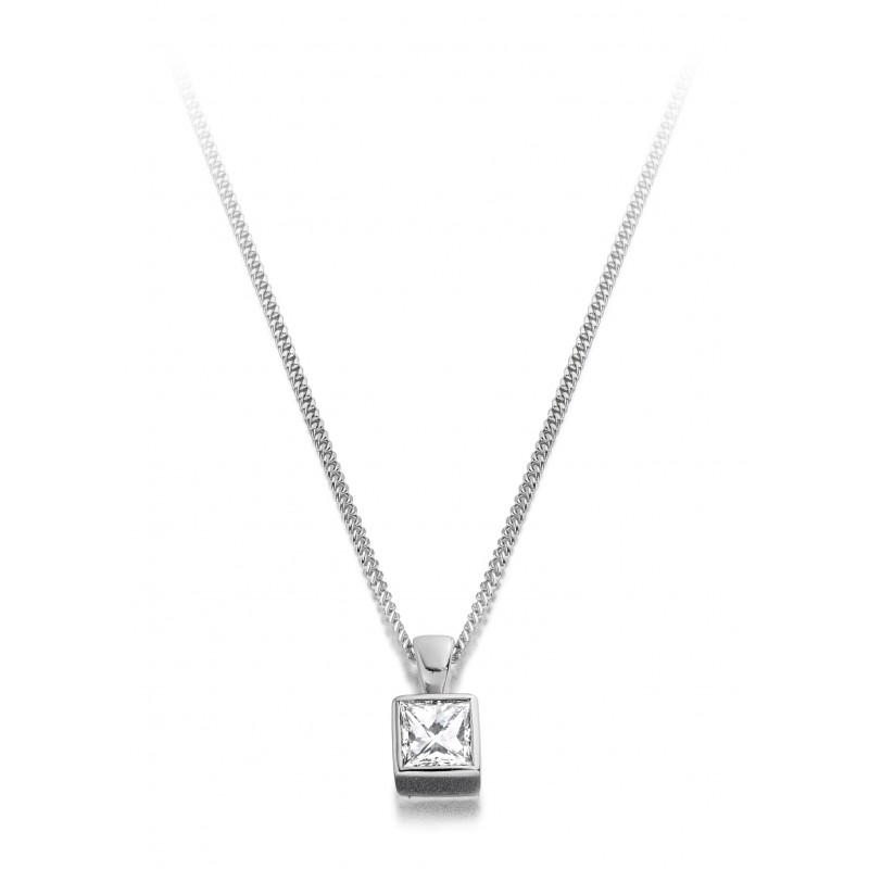in mirabess products solitaire pendant per diamond rose gold bail cut rg double princess
