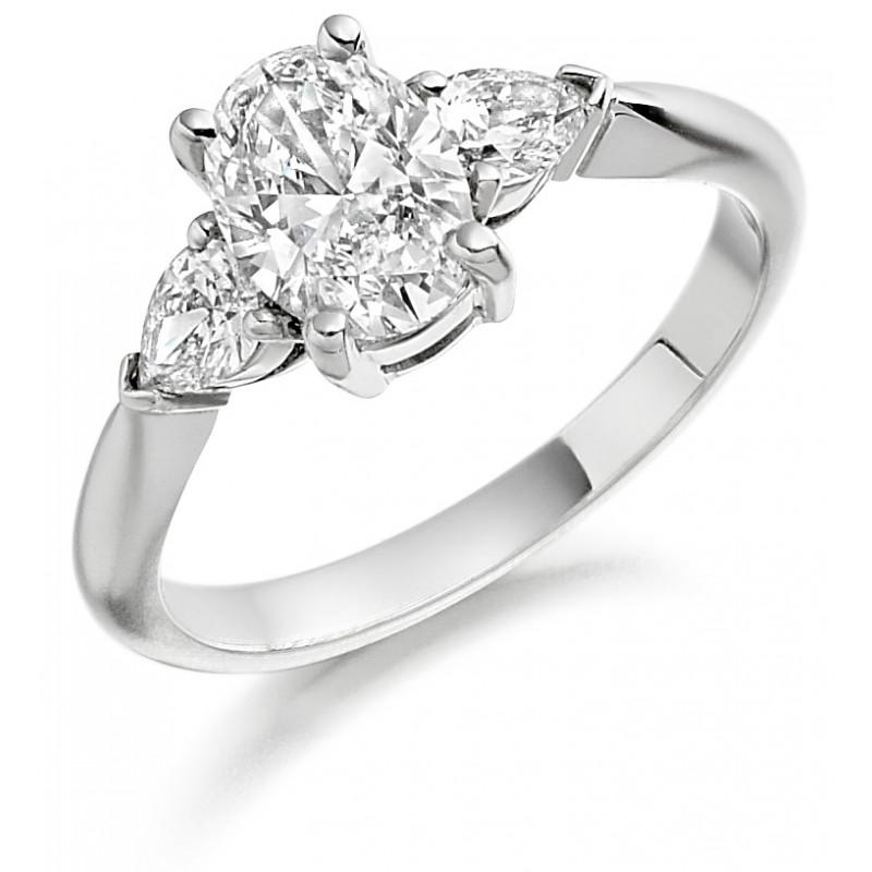6afede87fe0a5 Platinum Gabriella oval cut diamond ring, diamond set shoulders 1.23cts