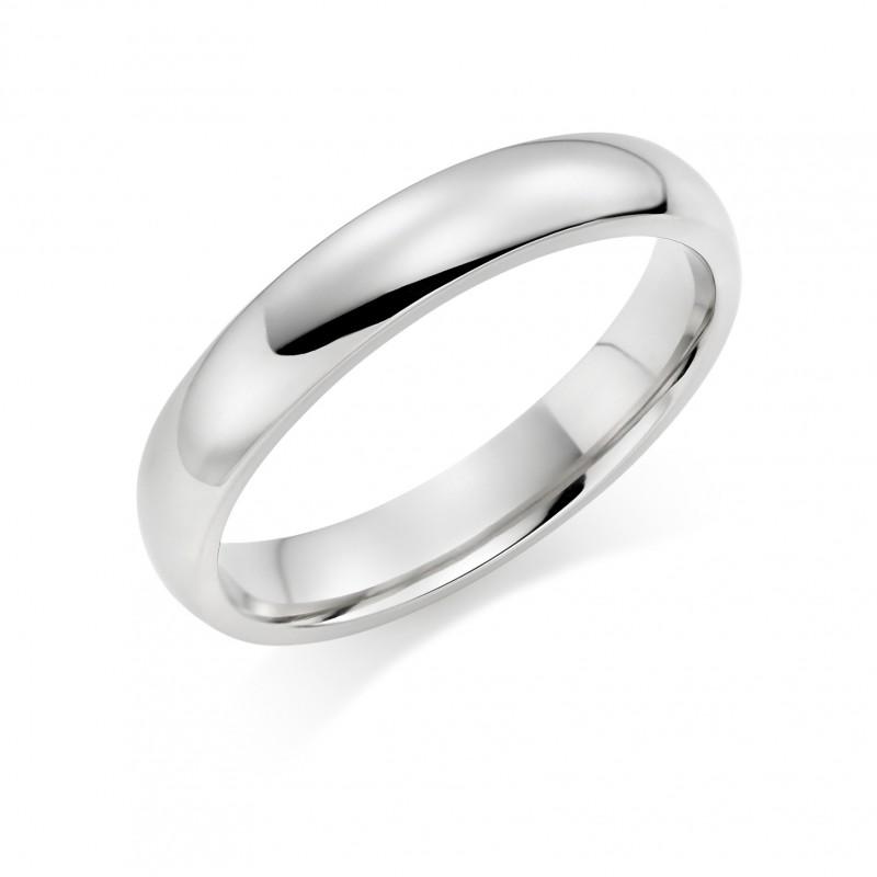 Platinum 4mm Oxford wedding ring