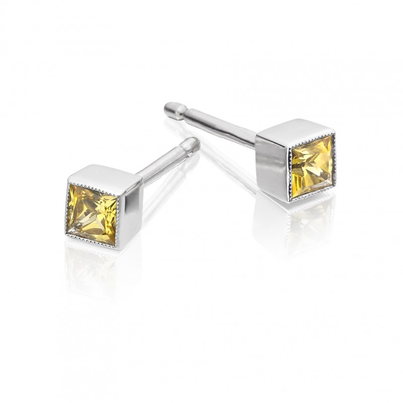yellow and emerald earrings jewelry bloom sapphire full yellowsaph post diamond products stem back white in irini