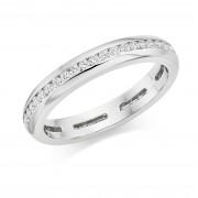 Platinum Alexandra round cut diamond full eternity ring 0.48cts