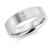 Platinum 5mm Evelina diamond wedding ring 0.03cts