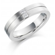 Platinum 4.5mm Serena diamond wedding ring 0.12cts