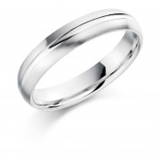 Platinum 4.5mm Terza wedding ring