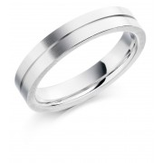 Platinum 4.5mm Serena wedding ring