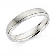 Platinum & 18ct white gold 4.5mm Zaira wedding ring