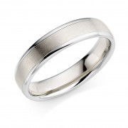 Platinum & 18ct white gold 5mm Verdi wedding ring
