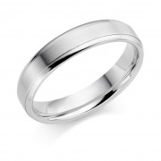 Platinum 5mm Verdi wedding ring
