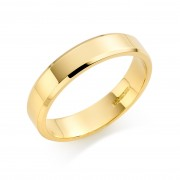 18ct yellow gold 5mm New Windsor wedding ring