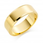 18ct yellow gold 8mm New Windsor wedding ring