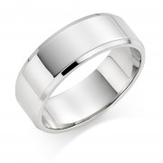 Platinum 8mm New Windsor wedding ring