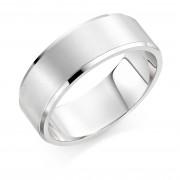 Platinum brushed finish 8mm New Windsor  wedding ring