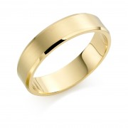 18ct yellow gold brushed finish 6mm New Windsor wedding ring