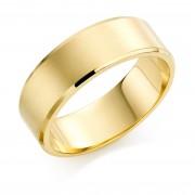 18ct yellow gold brushed finish 8mm New Windsor wedding ring