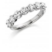 Platinum Claudina round cut diamond eternity ring 0.65cts