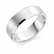 Platinum brushed finish 7mm New Windsor  wedding ring