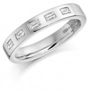 Platinum 3.5mm Lucia diamond wedding ring 0.20cts