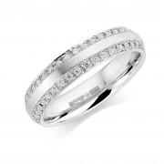 Platinum 4.5mm Lucrezia diamond wedding ring 0.20cts