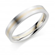 Platinum & 18ct red gold 4mm Cella wedding ring