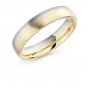 18ct gold & platinum 5mm Lorenza wedding ring