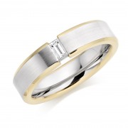 Platinum & 18ct red gold 5mm Donata diamond wedding ring 0.12cts