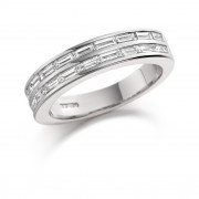 Platinum Concetta baguette cut diamond true half eternity ring 1.24cts