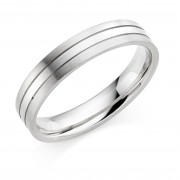 Platinum & 18ct white gold 4.5mm Mara wedding ring