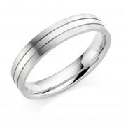 Platinum & 18ct white gold 4.5mm Mara wedding ring