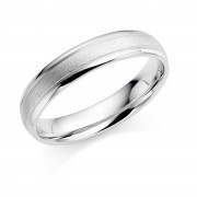 Platinum 4.5mm Abrienne wedding ring