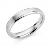 Platinum 4mm Verdi wedding ring