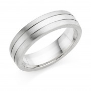 Platinum & 18ct white gold 6mm Mara wedding ring