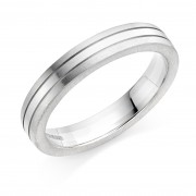 Platinum & 18ct white gold 4mm Mara wedding ring
