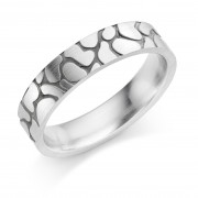 Platinum 5mm Claree wedding ring