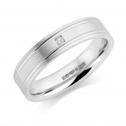 Platinum 4.5mm Ricadonna diamond wedding ring 0.01cts