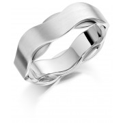 Platinum & 18ct white gold 6.5mm Iniga wedding ring