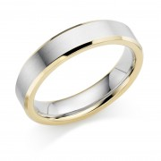 Platinum & 18ct red gold 5mm Donata wedding ring