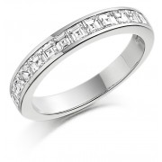 Platinum Alexandra carré cut diamond true half eternity ring 0.65cts