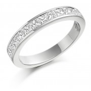 Platinum Alexandra princess cut diamond true half eternity ring 0.63cts