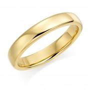 18ct yellow gold 4mm Eton wedding ring.