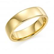 18ct yellow gold 6mm Eton wedding ring.