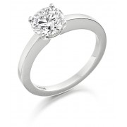 Platinum Geonna round cut diamond solitaire ring 0.50cts