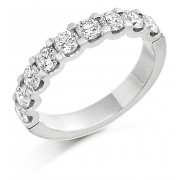 Platinum Sabrina round cut diamond true half eternity ring 1.18cts