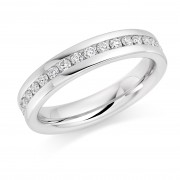 Platinum 4mm Angelia diamond wedding ring 0.36cts
