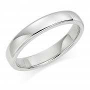 Platinum 4mm Eton wedding ring.