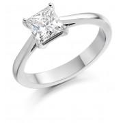 Platinum Cammeo princess cut diamond solitaire ring 1.03cts